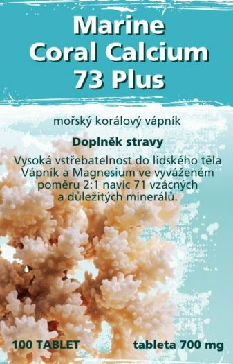 Marine Coral Calcium 73 Plus 100ks Naturgreen