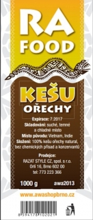RA FOOD kešu ořechy natural 1000g W 450