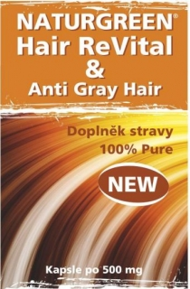 Naturgreen HairReVital & Anti Gray Hair 120 kapslí