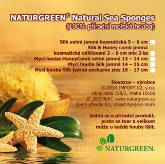 Naturgreen® Natural Sea Sponges 13-14 cm